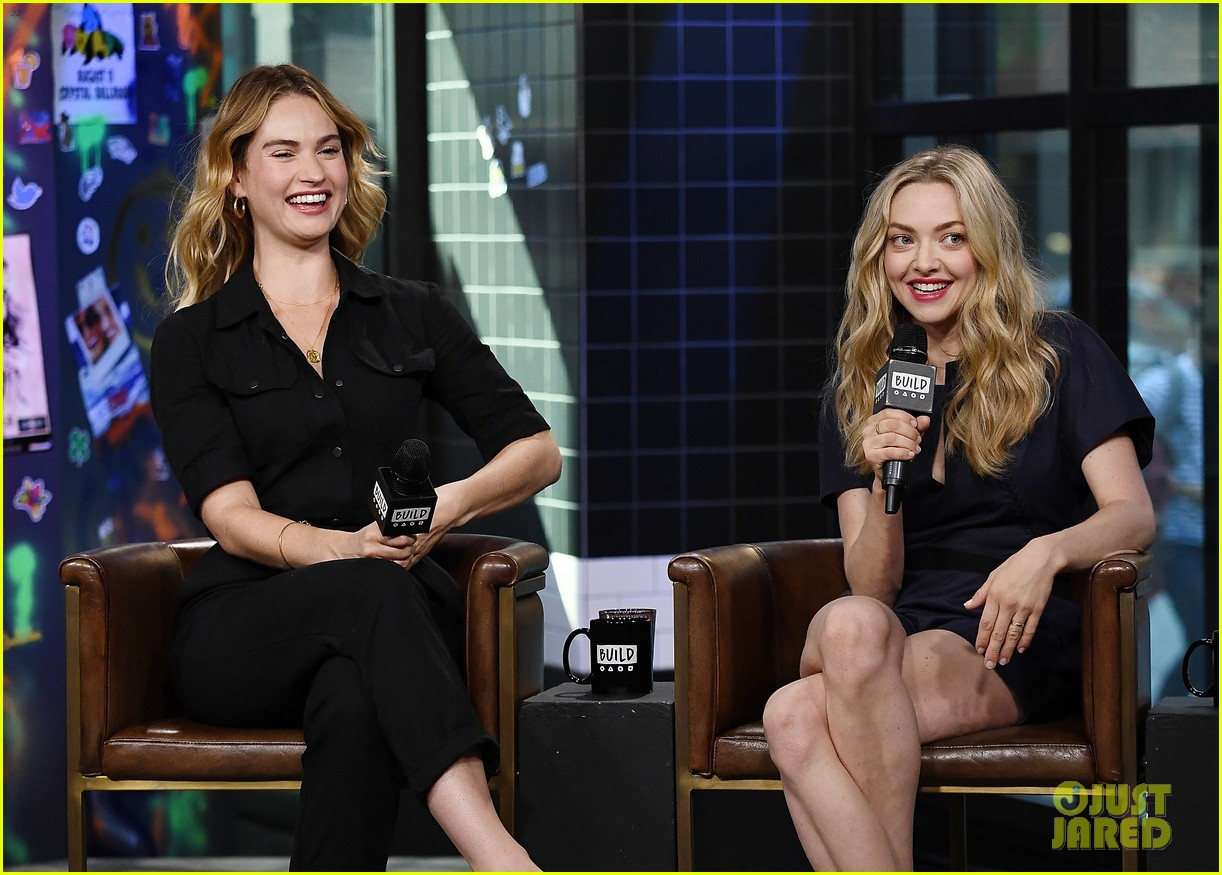 lily james amanda seyfried build interview 024117133