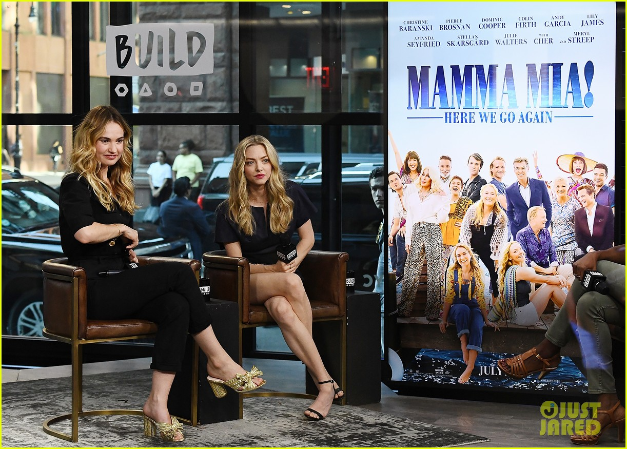 lily james amanda seyfried build interview 044117135