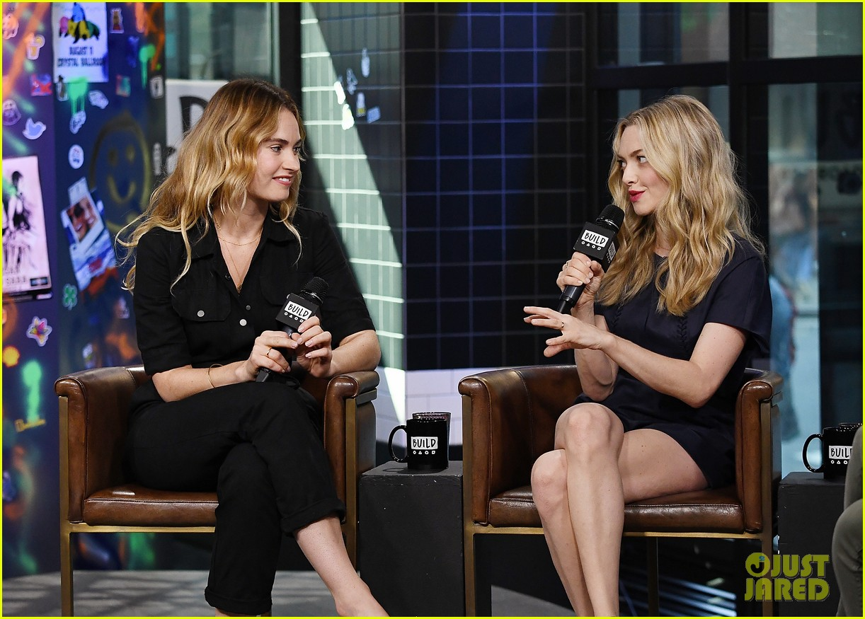 lily james amanda seyfried build interview 104117141