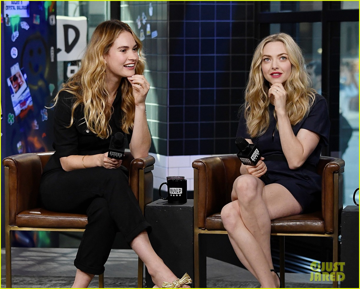 lily james amanda seyfried build interview 124117143