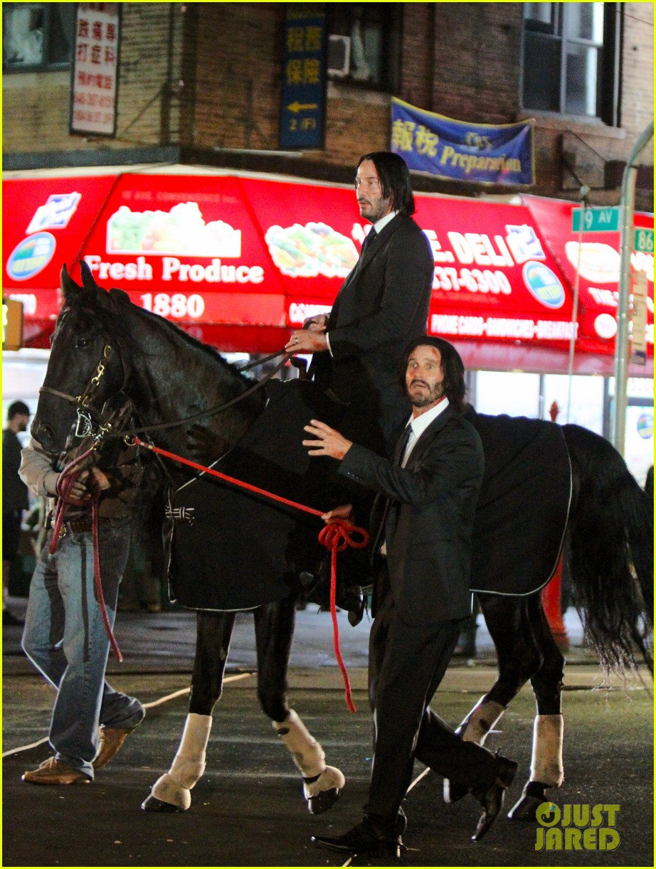 Keanu Reeves Rides A Horse For John Wick 3 Photo