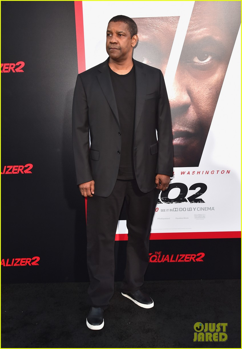 denzel washington ashton sanders get star support at equalizer 2 hollywood premiere 074116169