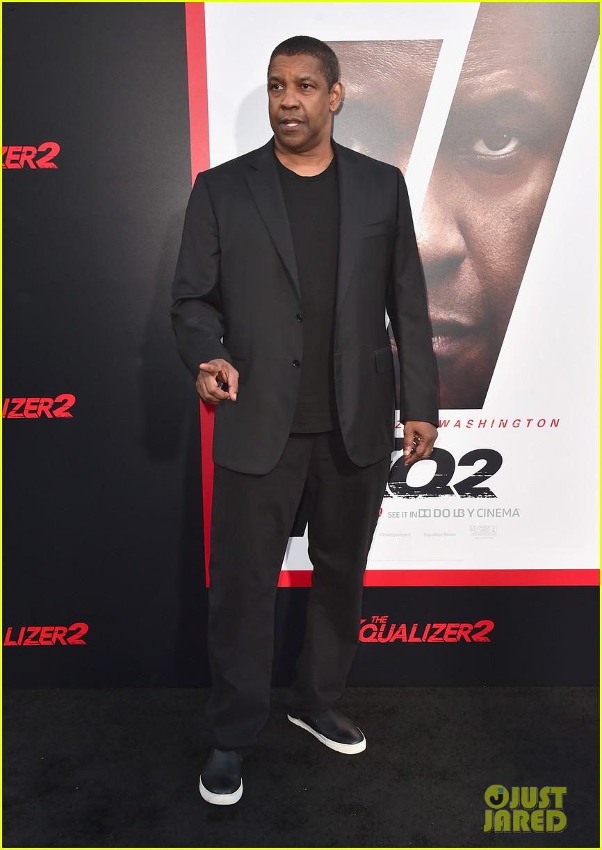 Denzel Washington And More Light Up The Equalizer 2 Red