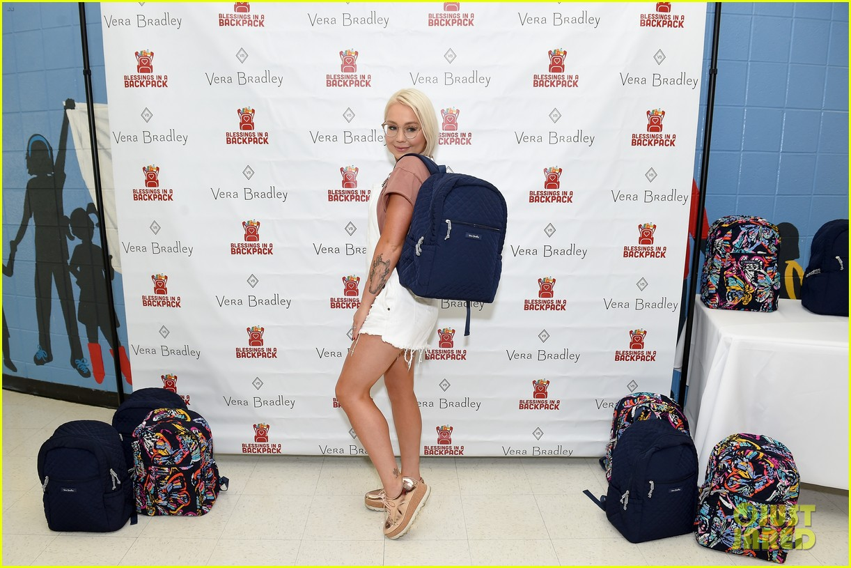 Jason Aldean   Pregnant Wife Brittany Host Vera Bradley x Blessings in a  Backpack Elementary School Charity Event c6443e93e5302