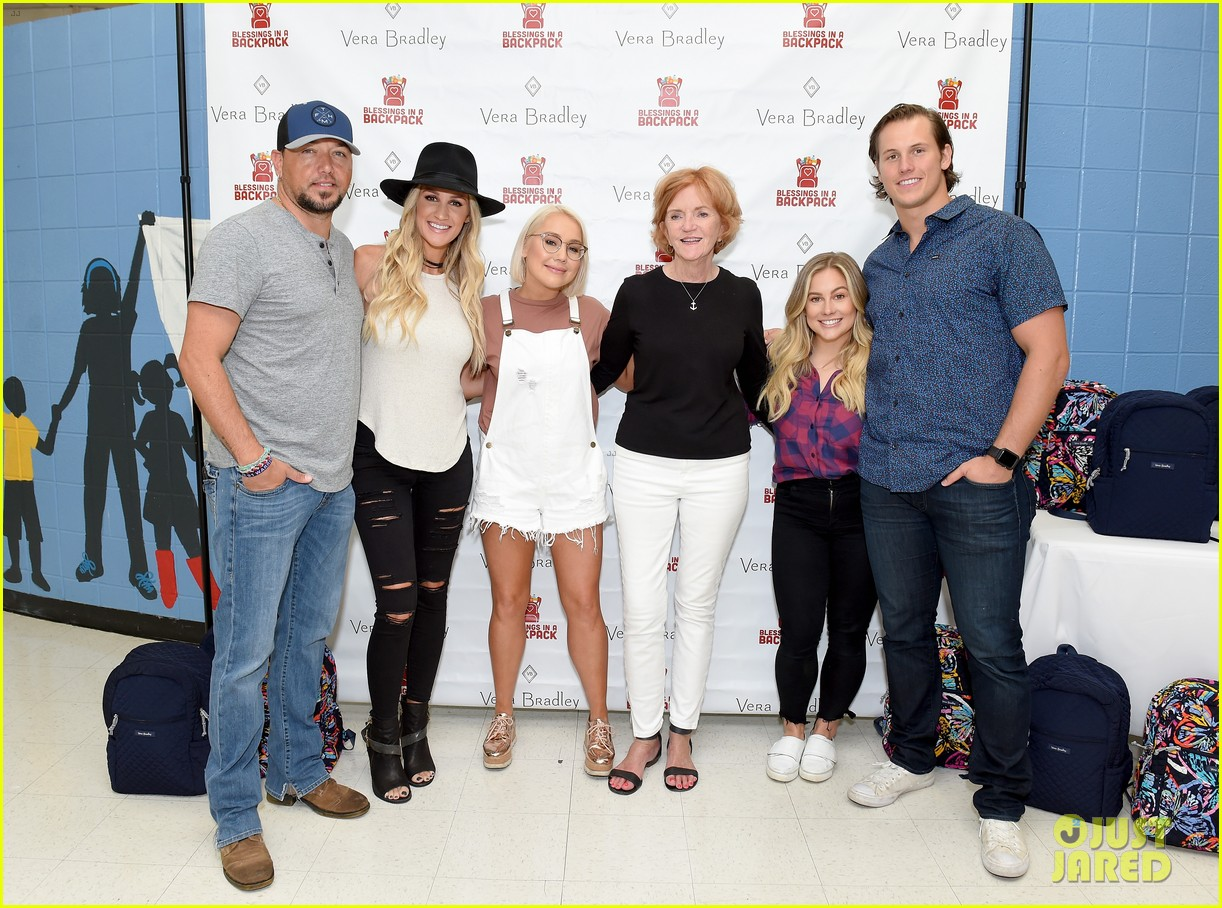 jason aldean and brittany host vera bradley x blessings in a backpack event 274135213