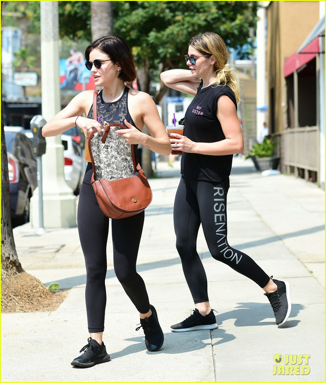 lucy hale ashley green grab tea after workout 114124705
