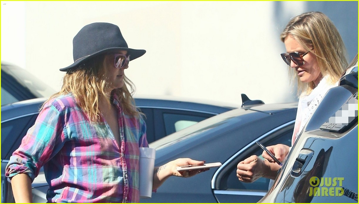 drew barrymore and cameron diaz go grocery shopping at bristol farms 064125350