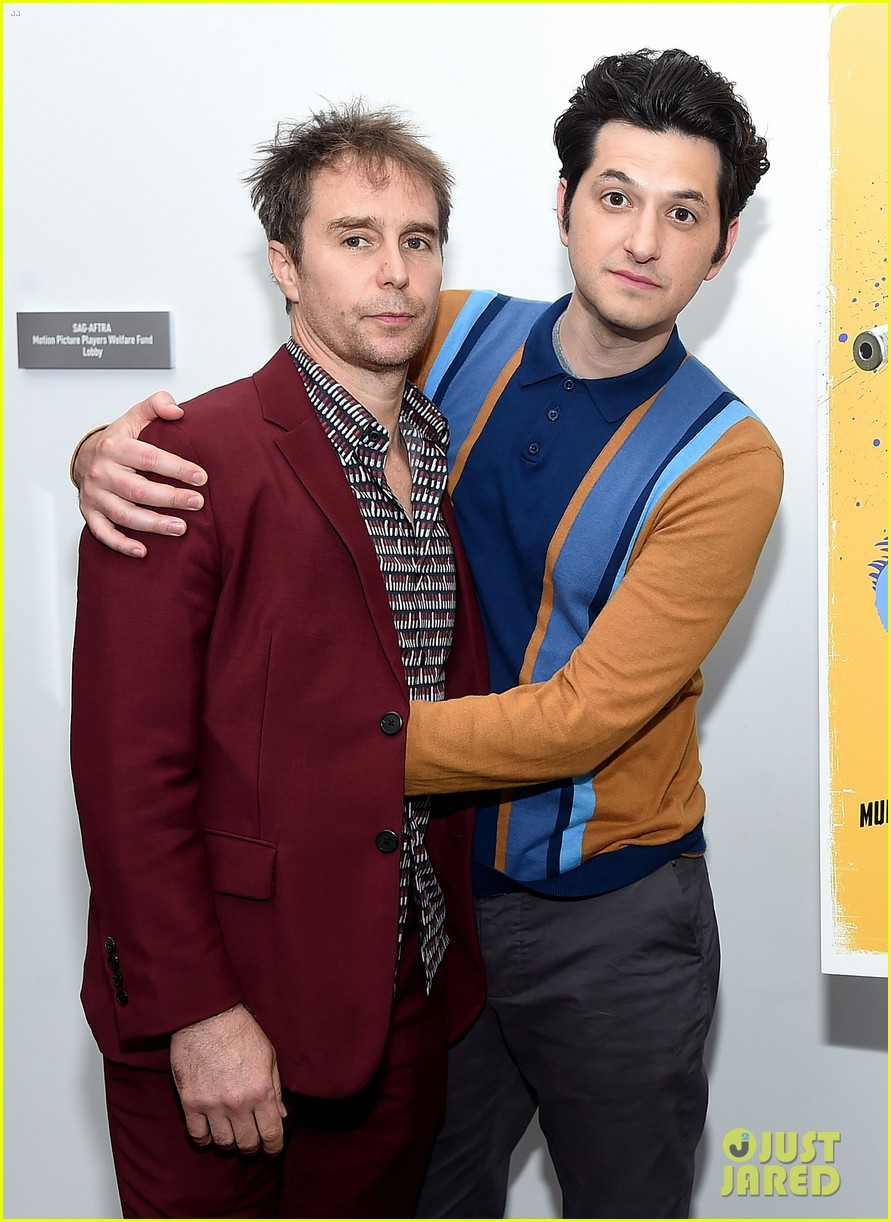 ben schwartz sam rockwell step out to promote blue iguana in nyc 044127263