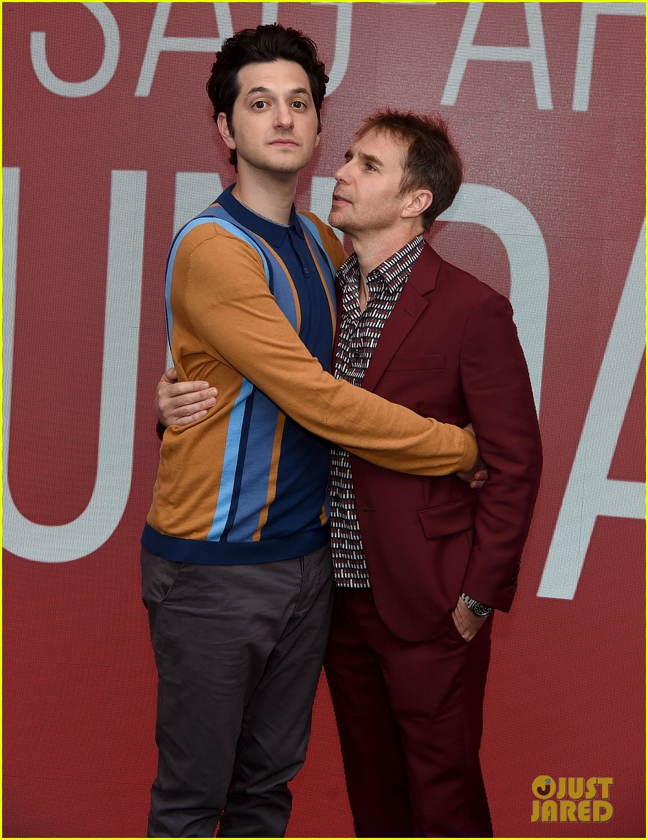 ben schwartz sam rockwell step out to promote blue iguana in nyc 074127266