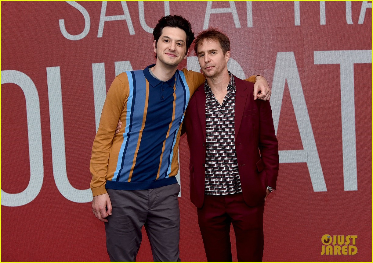 ben schwartz sam rockwell step out to promote blue iguana in nyc 104127269