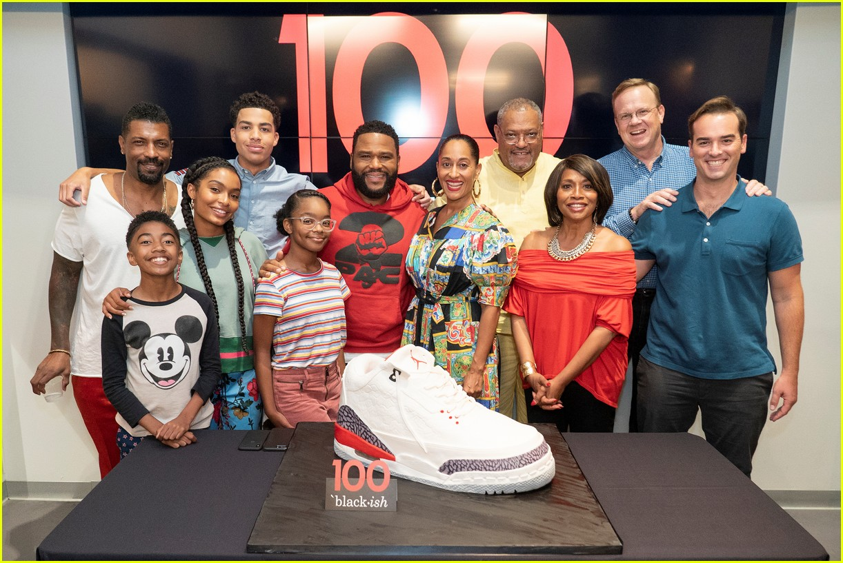 anthony anderson and tracee ellis ross join black ish cast at 100th episode celebration 014133878