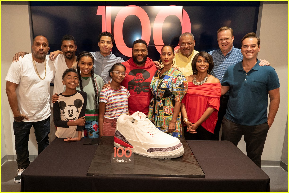 anthony anderson and tracee ellis ross join black ish cast at 100th episode celebration 044133881