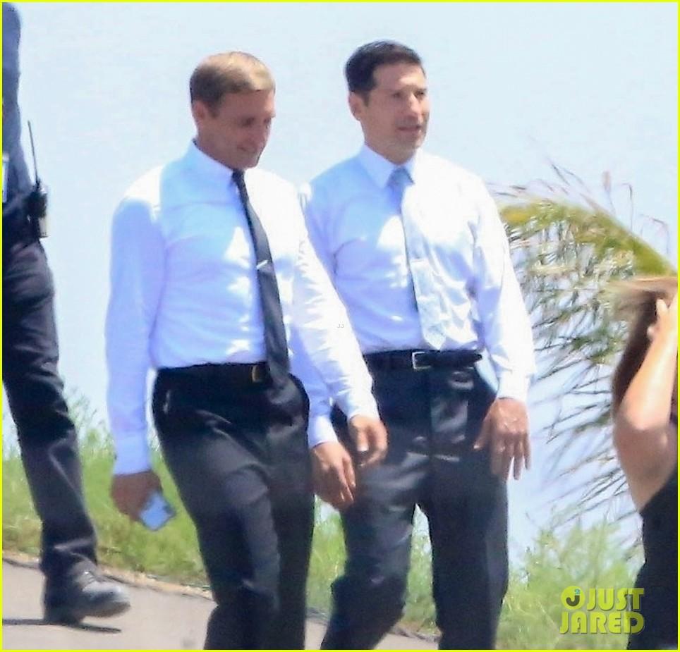 Matt Damon His Co Stars Film Ford V Ferrari Scene Photo 4133020 Jon Bernthal Josh Lucas Matt Damon Pictures Just Jared