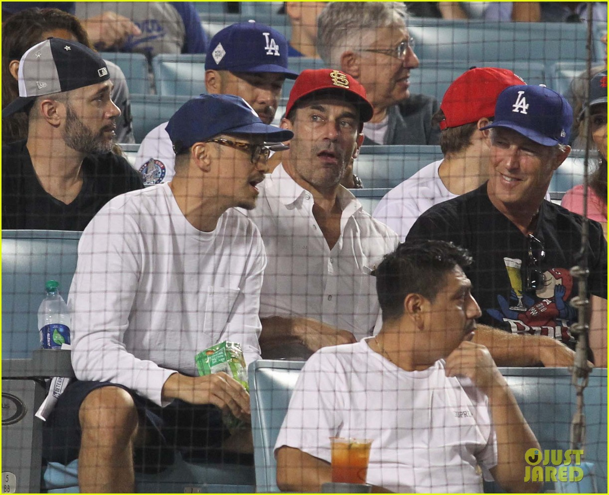 519159dc8 Josh Duhamel Spends Quality Time with Son Axl at Dodgers Game ...