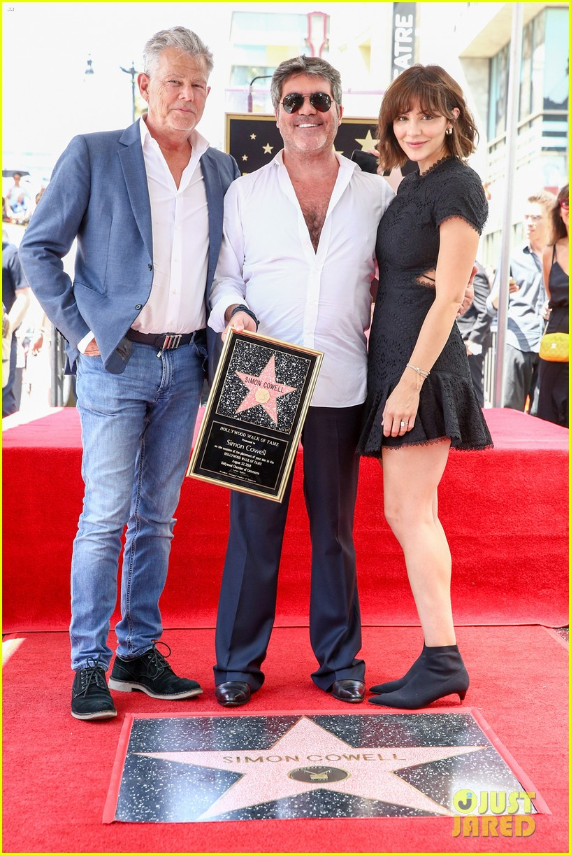simon cowell american idol alums at hollywood walk of fame ceremony 034133346