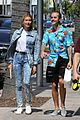 hailey baldwin wears denim outfit to church with justin bieber 25