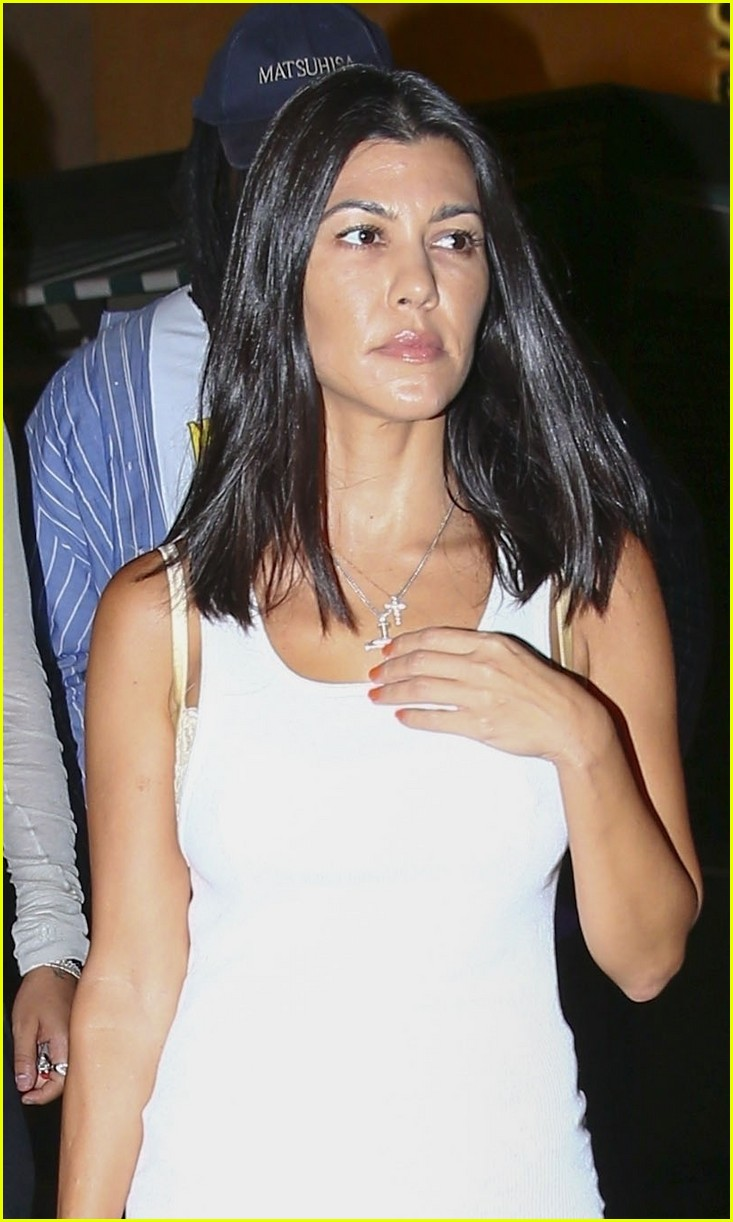 Kourtney Kardashian Steps Out For Sushi In A Short White Mini Dress