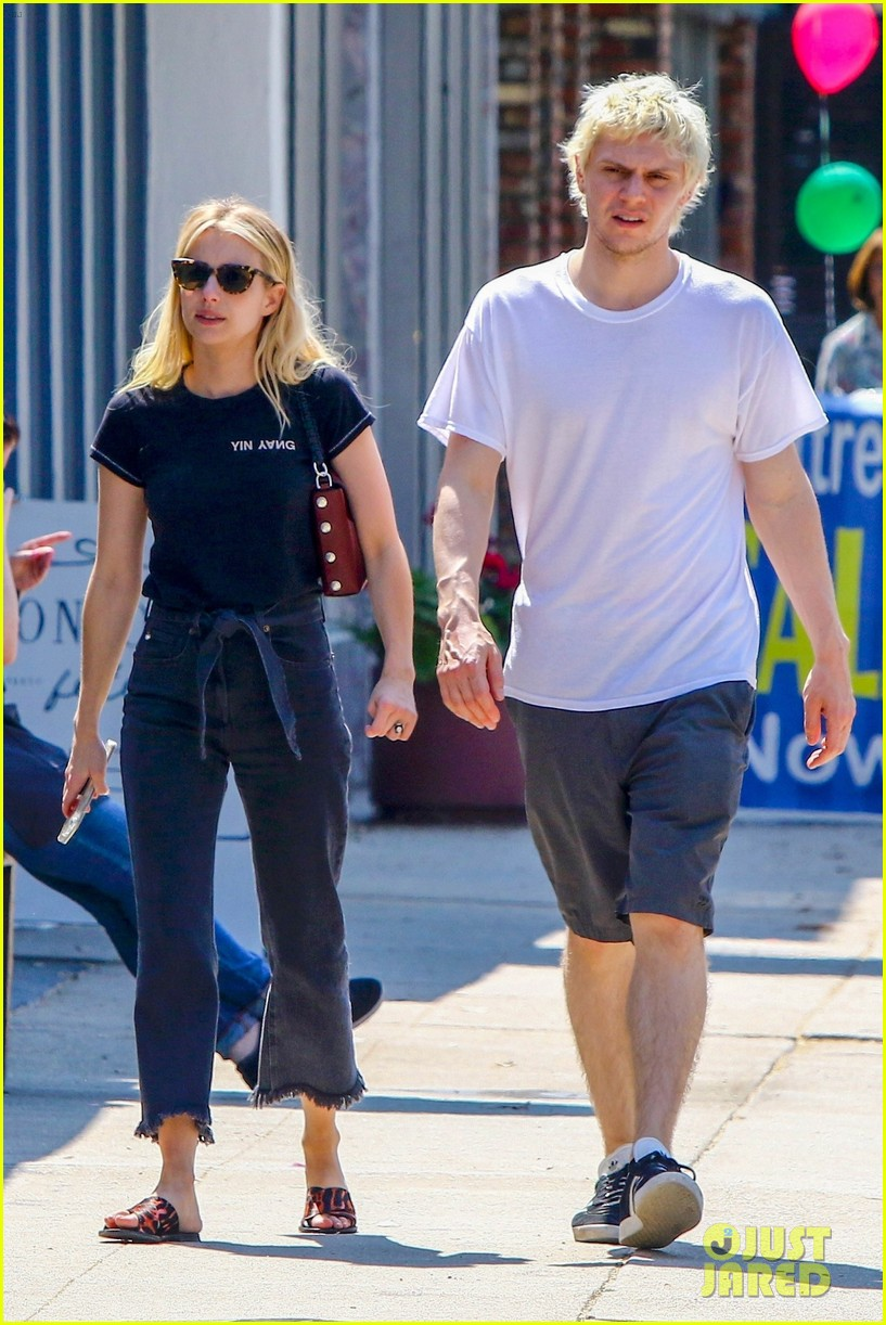 emma roberts evan peters couple up for afternoon date 054124581