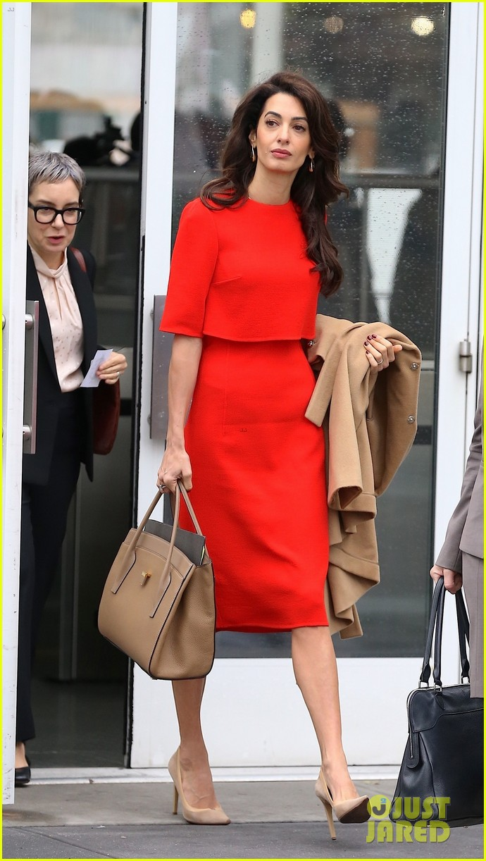 Amal Clooney Steps Out To Speak At The Un In Nyc Photo