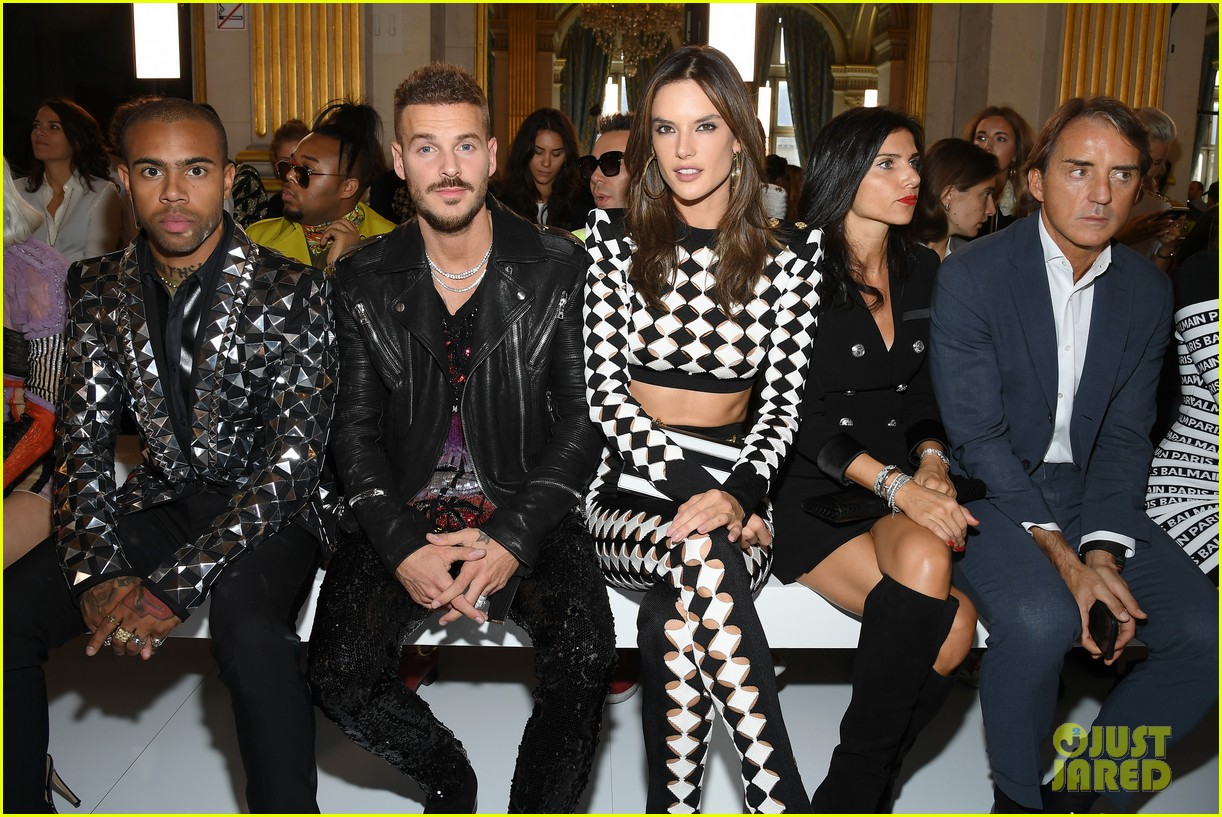 alessandra ambrosio olivia palermo zara larsson step out for balmain paris show 054155321