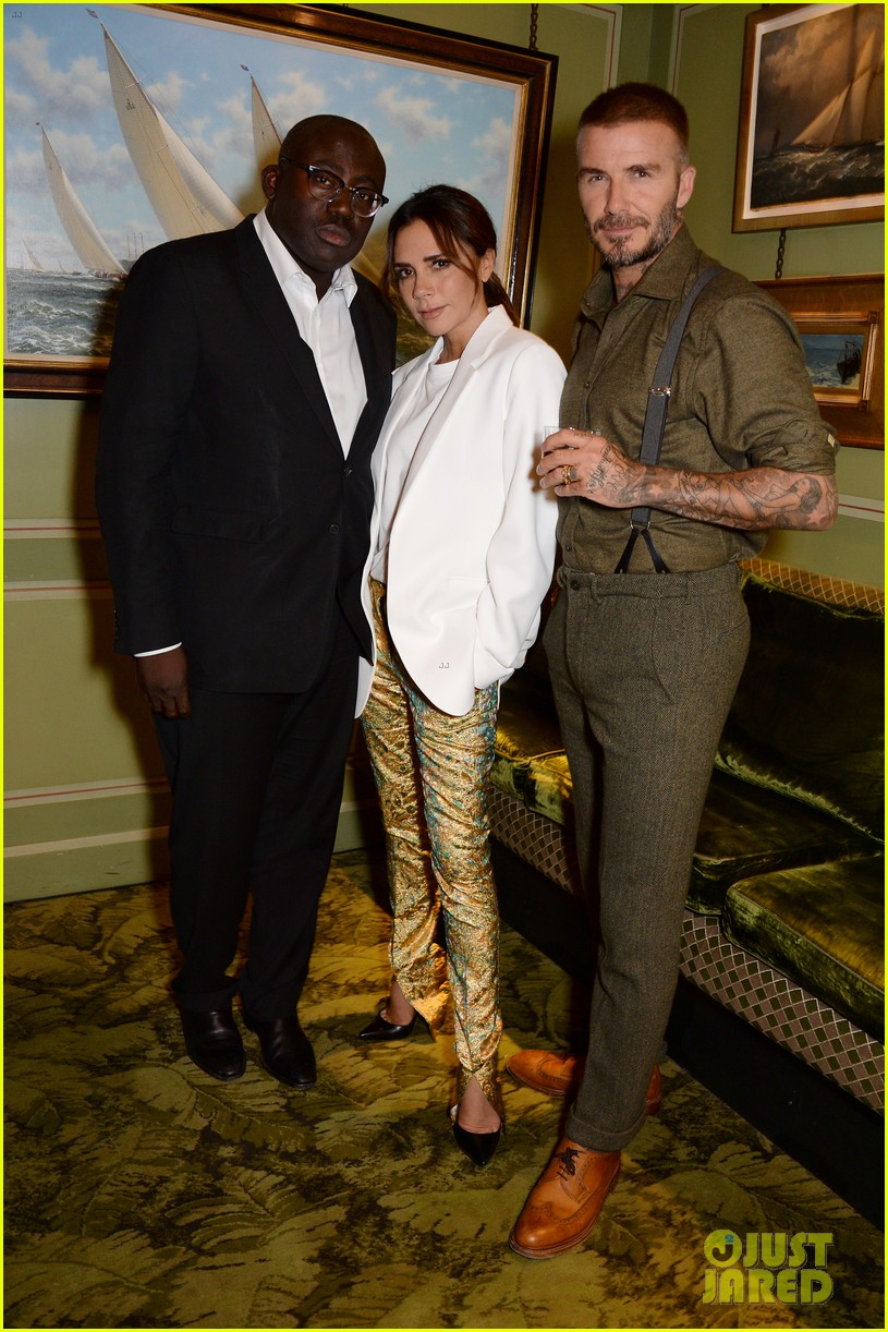 victoria beckham gets support from hubby david at 10th anniversary celebration 014148076