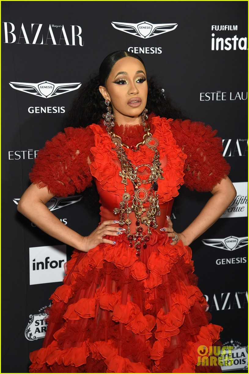 cardi b leaves party with bump on her head 144143889