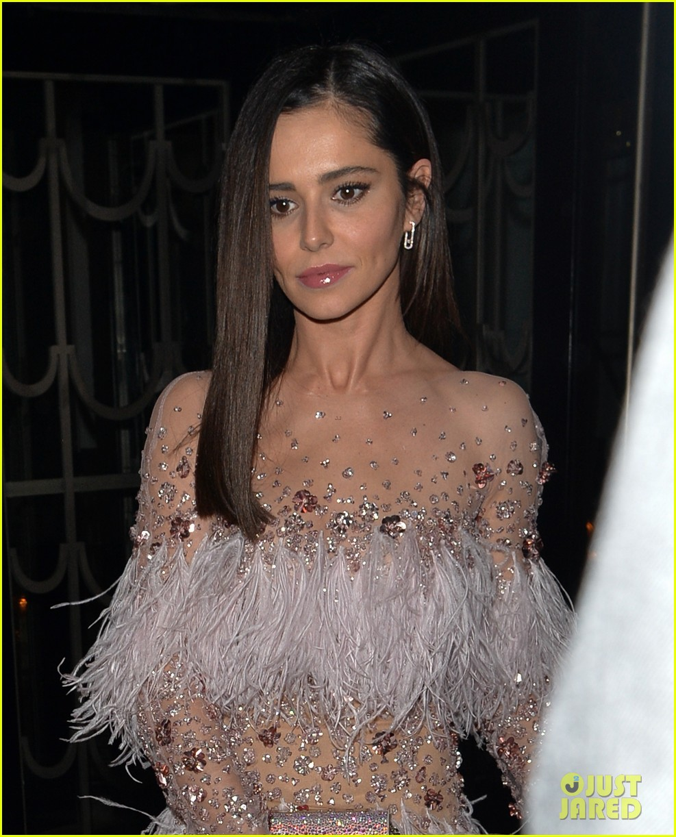 Cheryl Cole Looks So Chic In Sheer Dress For Friends Wedding