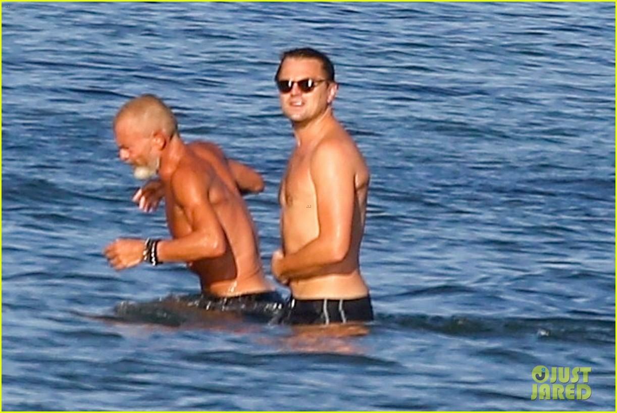 leonardo dicaprio shirtless at the beach 084137448
