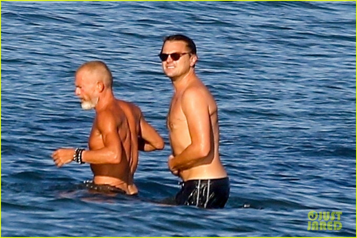 leonardo dicaprio shirtless at the beach 154137455