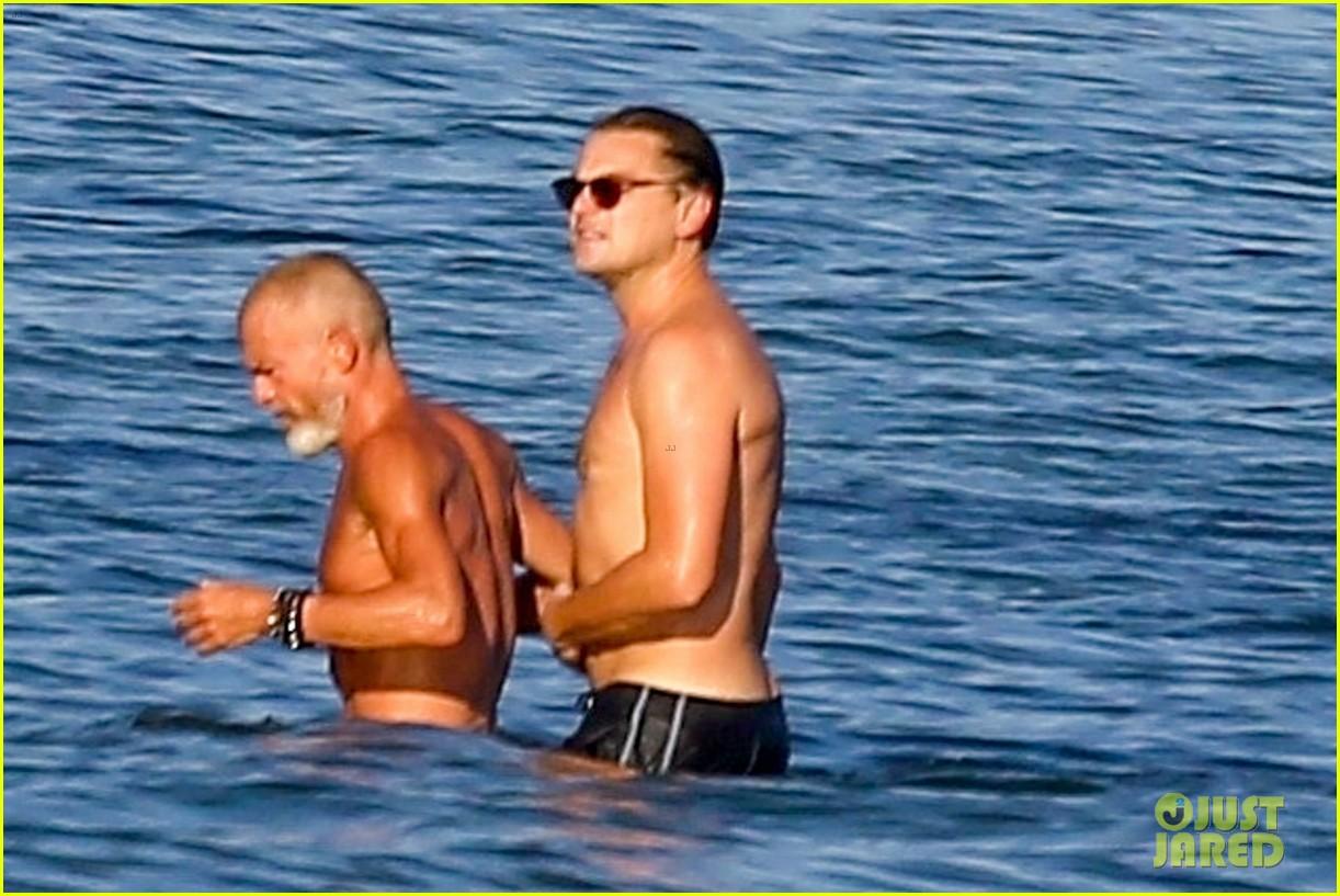 leonardo dicaprio shirtless at the beach 174137457