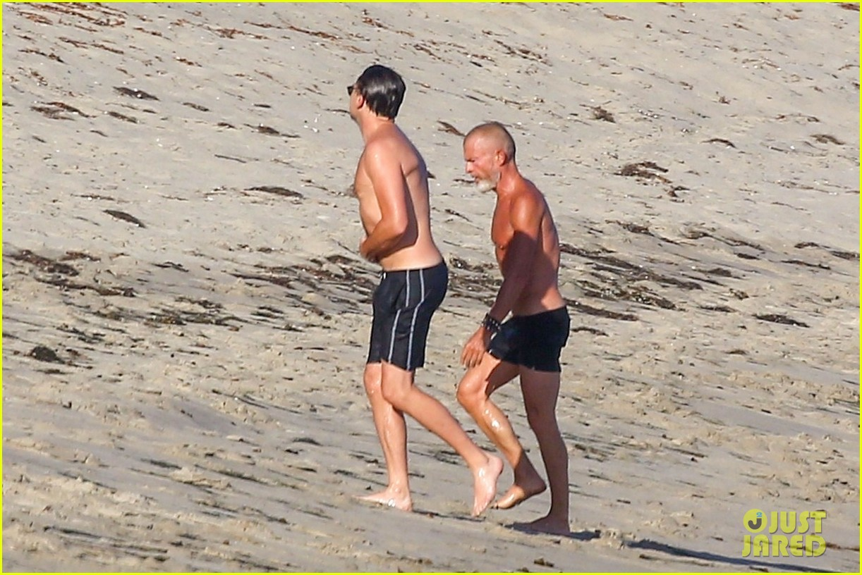 leonardo dicaprio shirtless at the beach 264137466