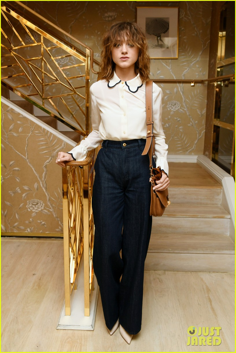 natalia dyer dove cameron black white babes tory burch luncheon 034147808