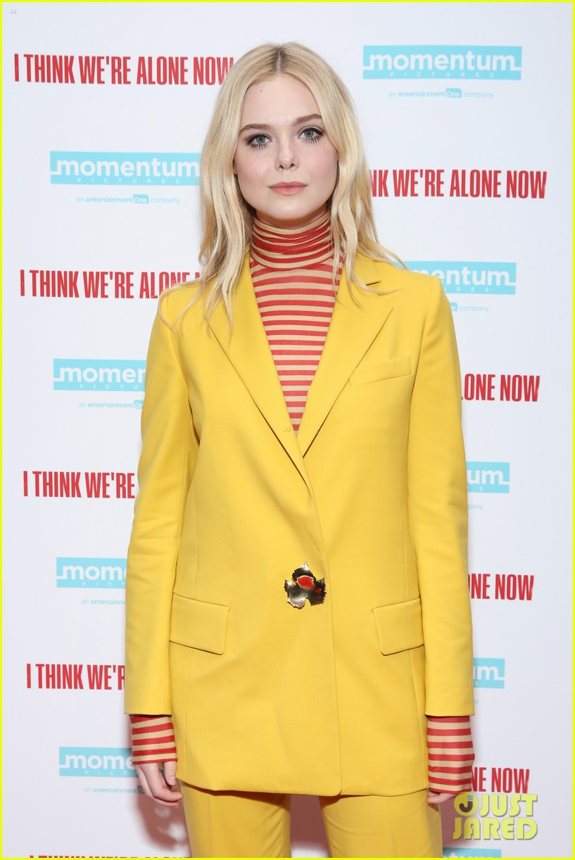 elle fanning think alone now nyc premiere 024145852
