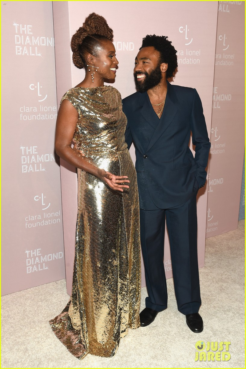 tiffany haddish donald glover rihanna diamond ball 054146562