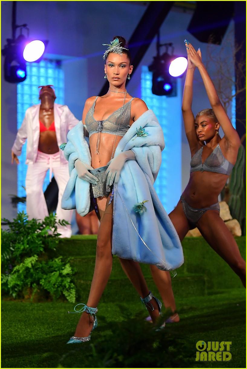 gigi and bella hadid slay in lingerie in rihannas savage x fenty nyfw show 024145548