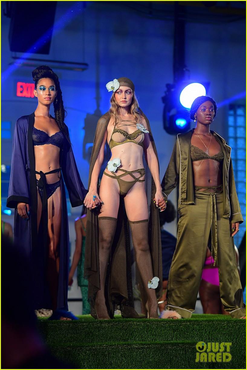 gigi and bella hadid slay in lingerie in rihannas savage x fenty nyfw show 054145551