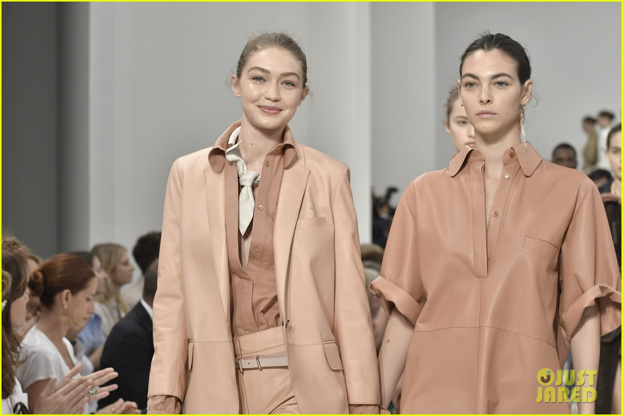 gigi and bella hadid strut their stuff in tods milan fashion week show2 124151314