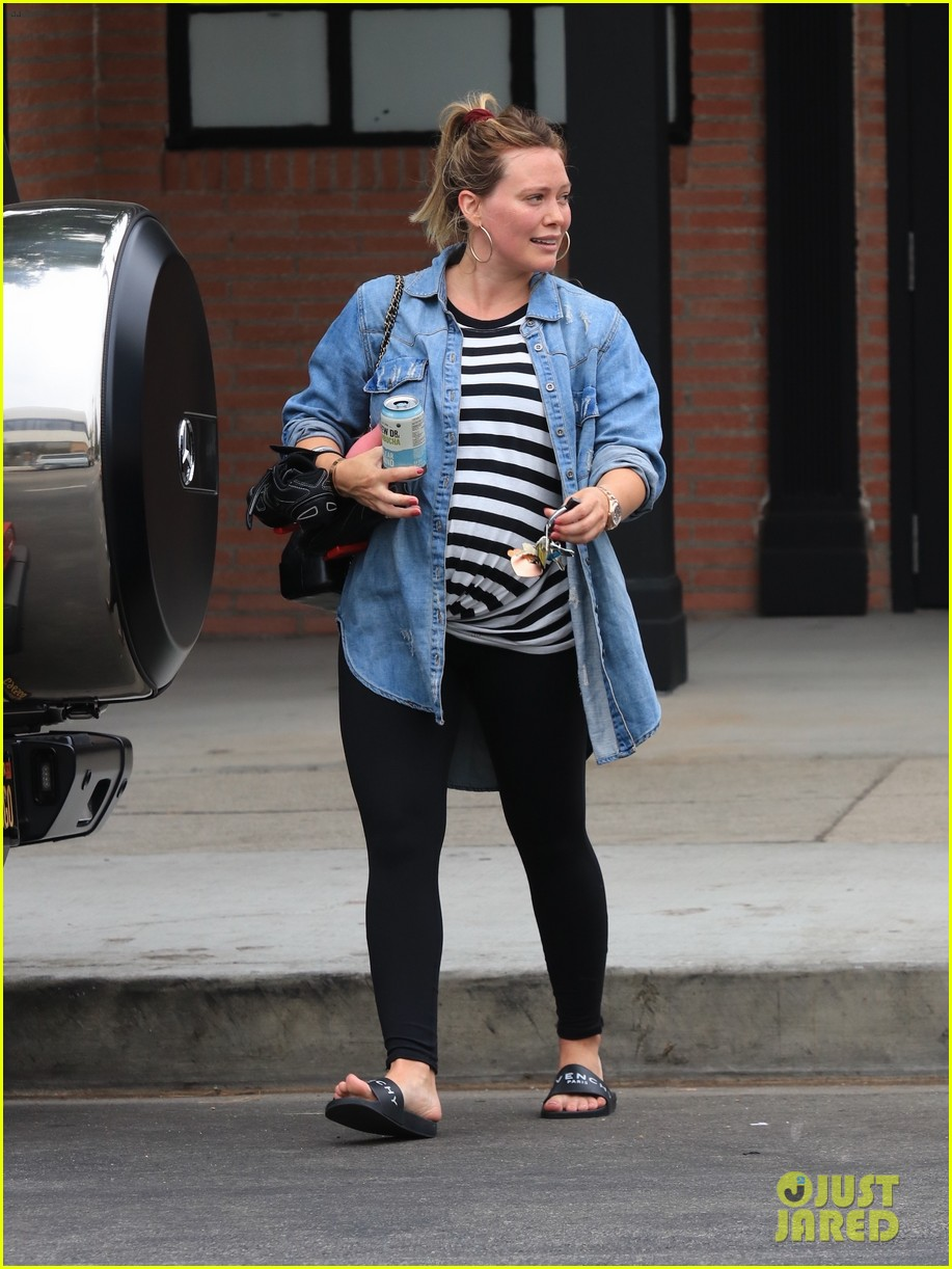 Hilary duff street style hits the gym in la - 2019 year