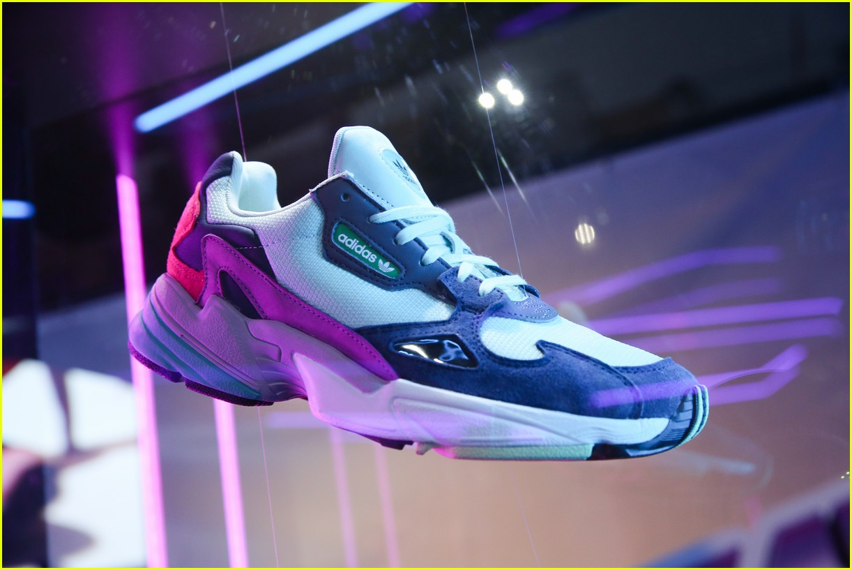 promo code 01a03 8400e Kylie Jenner  Adidas Originals Launch Falcon Sneaker at 90s-Themed Pop-Up