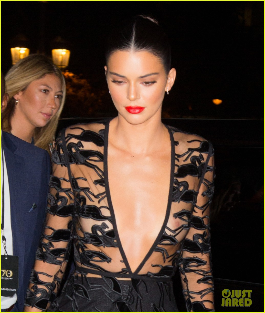 kendall jenner wears sheer dress for an event in paris 024144795