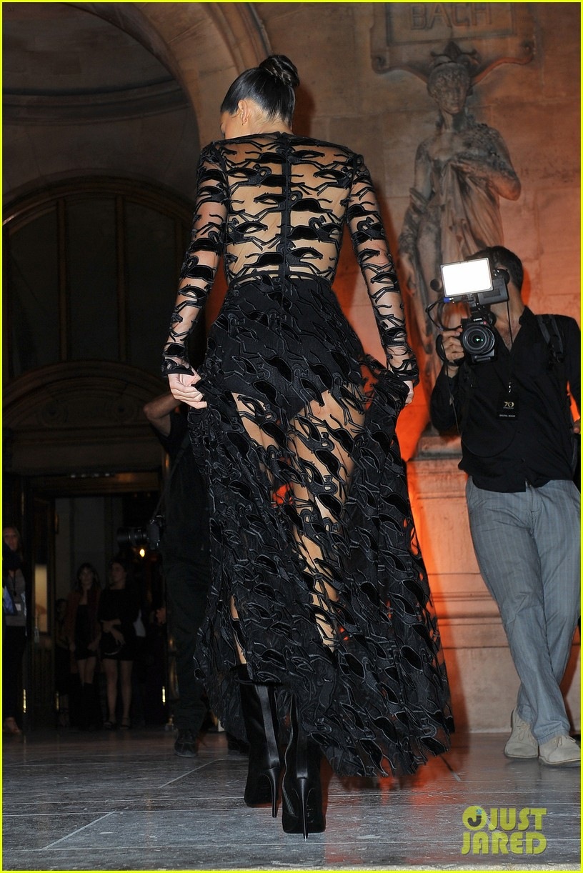 kendall jenner wears sheer dress for an event in paris 034144796