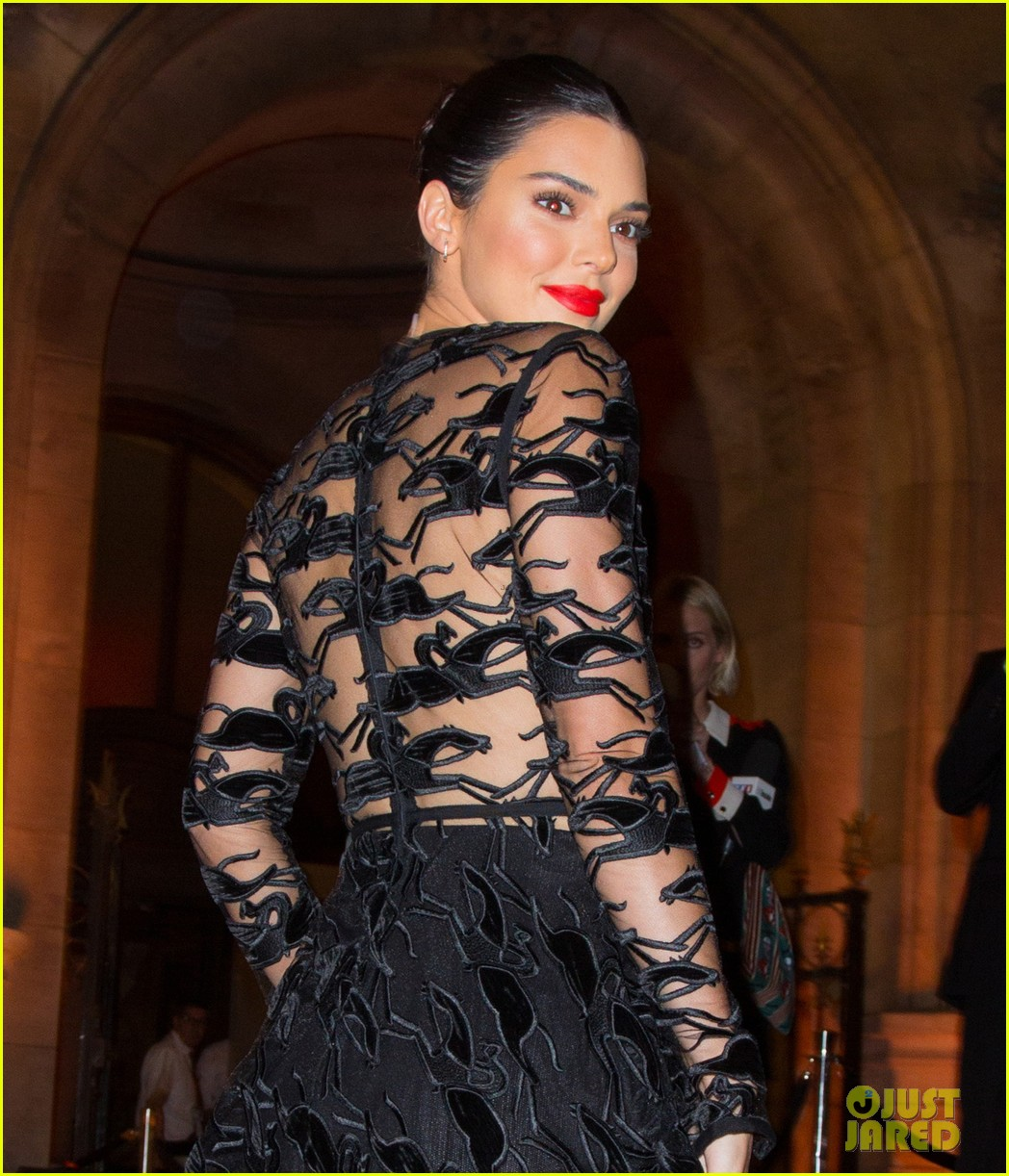 kendall jenner wears sheer dress for an event in paris 064144799