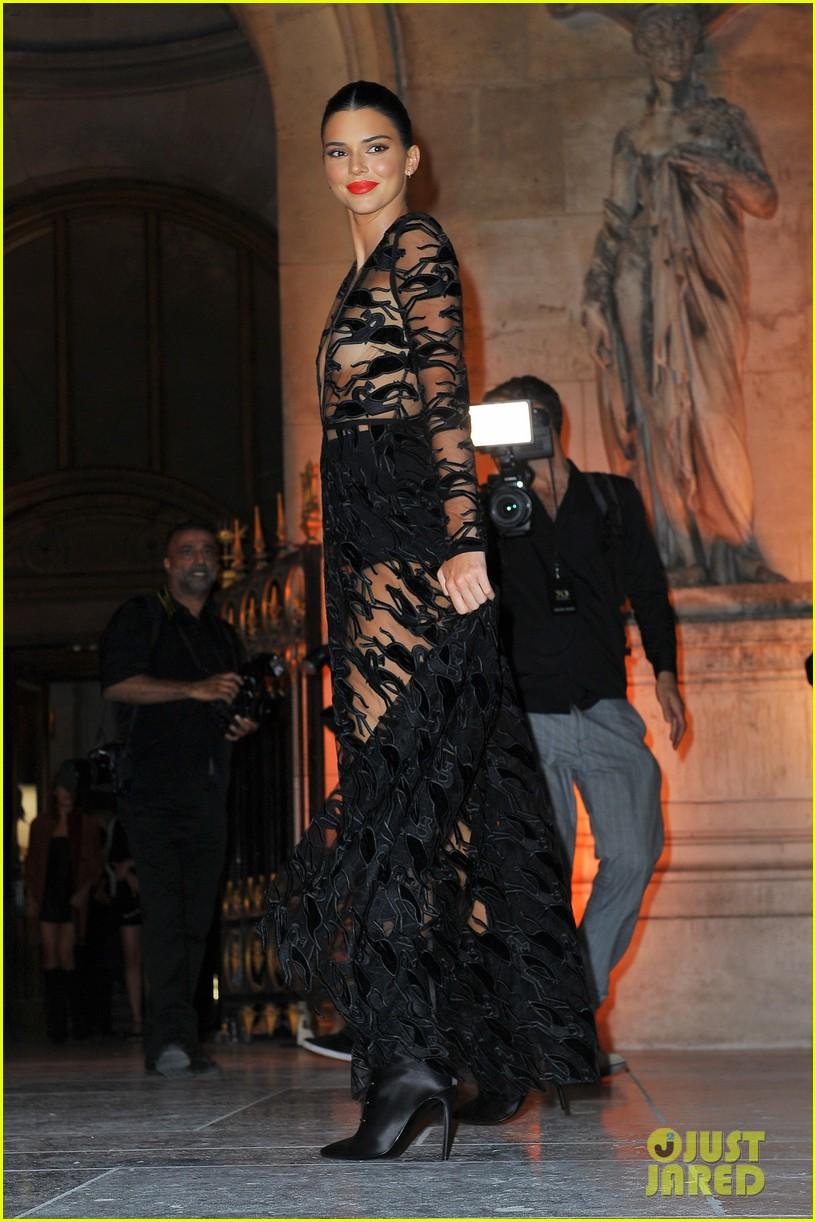 kendall jenner wears sheer dress for an event in paris 074144800