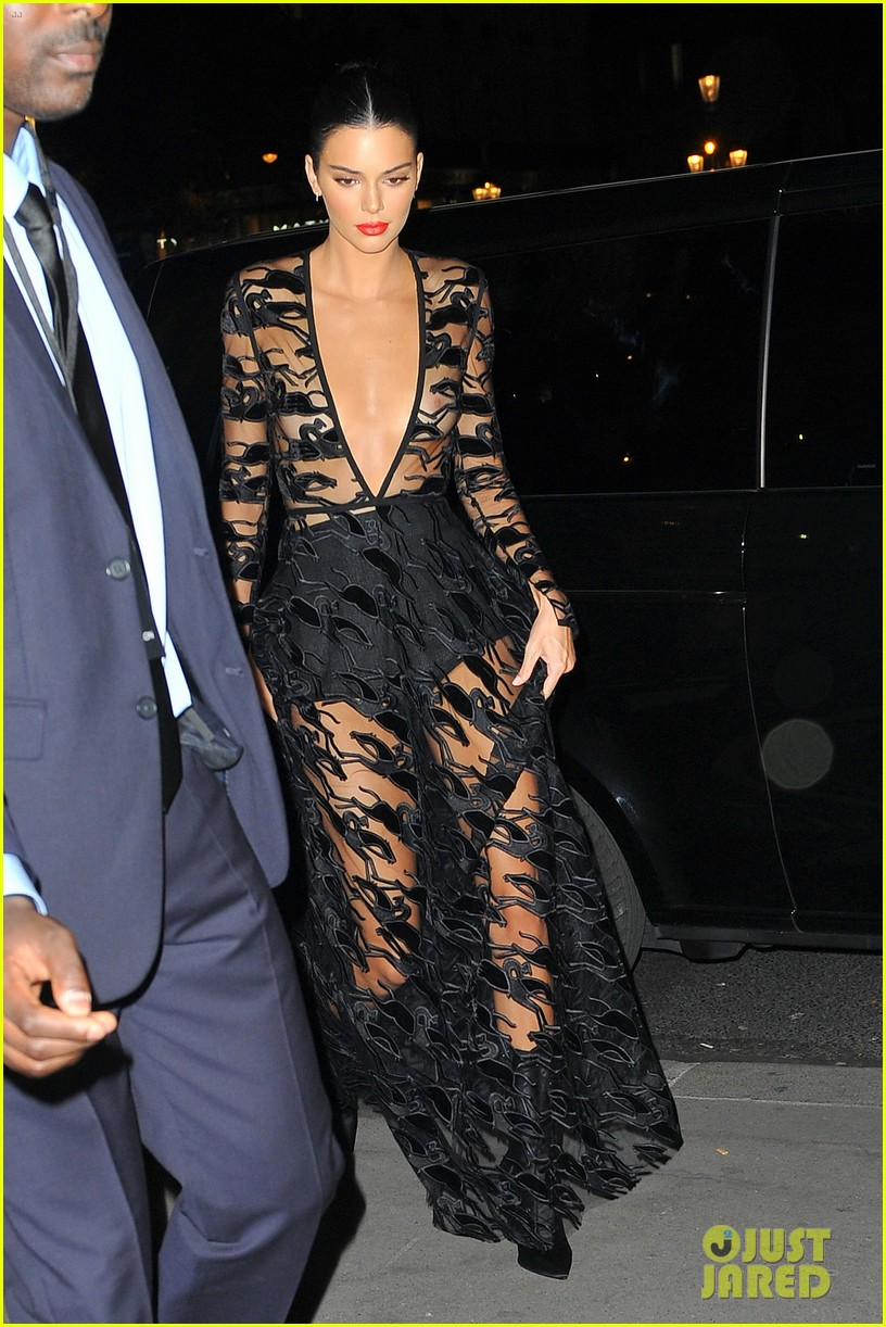 kendall jenner wears sheer dress for an event in paris 084144801
