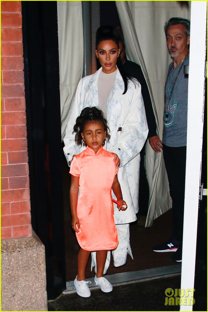 Kim Kardashian Daughter North Step Out For Dinner In Nyc Photo