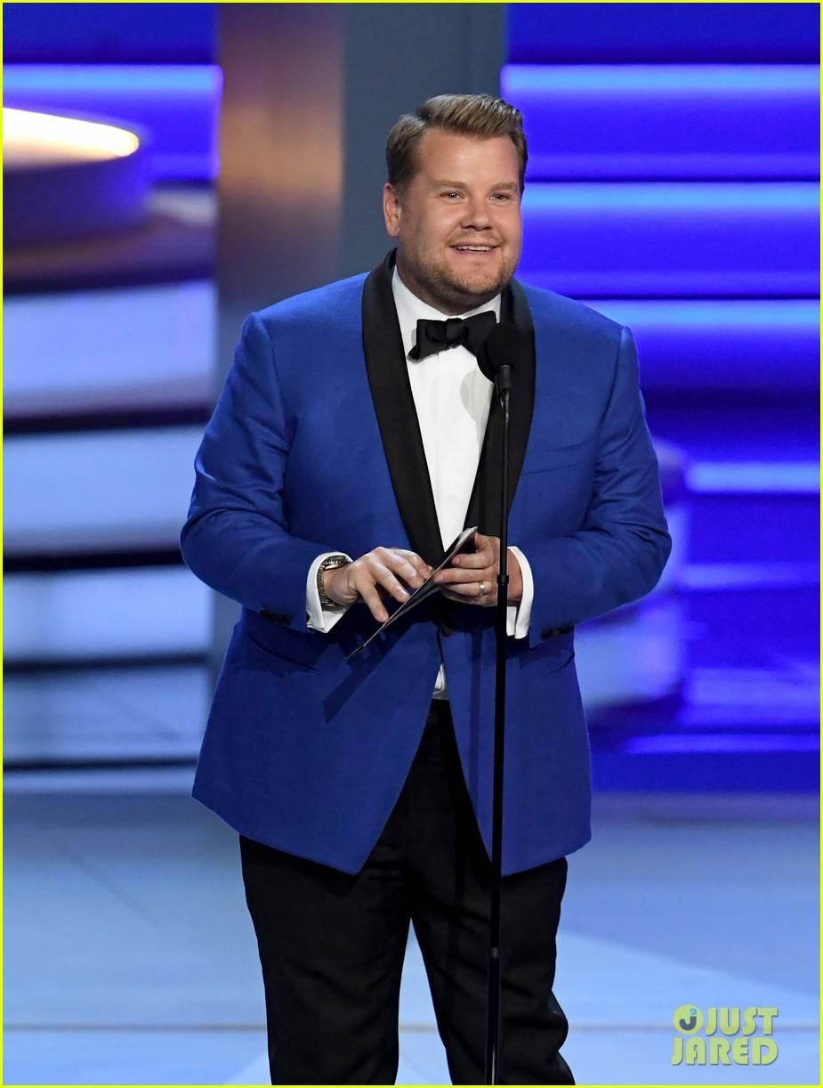 jimmy kimmel and james corden present at the emmys 2018 034148982