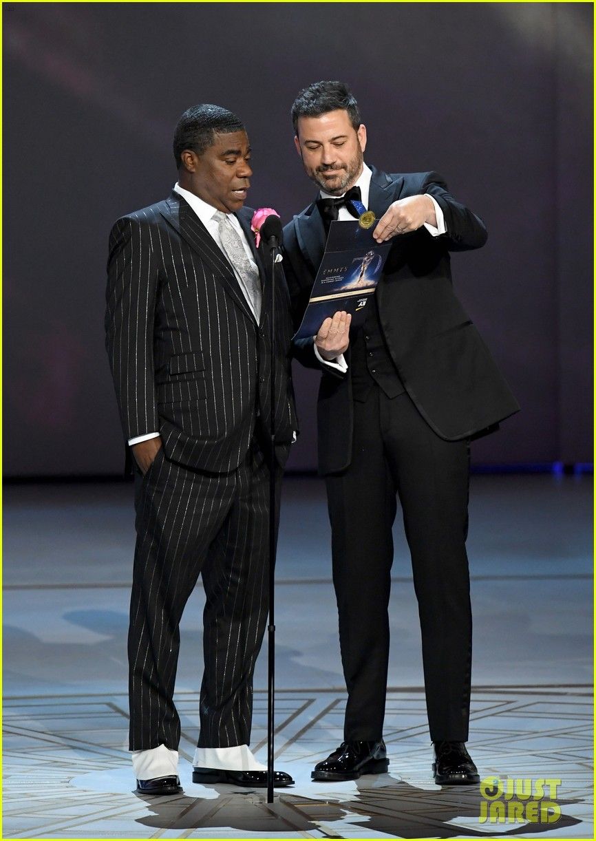 jimmy kimmel and james corden present at the emmys 2018 054148984