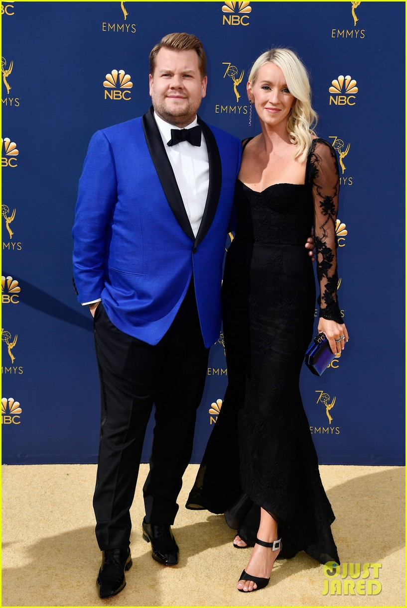 jimmy kimmel and james corden present at the emmys 2018 094148988