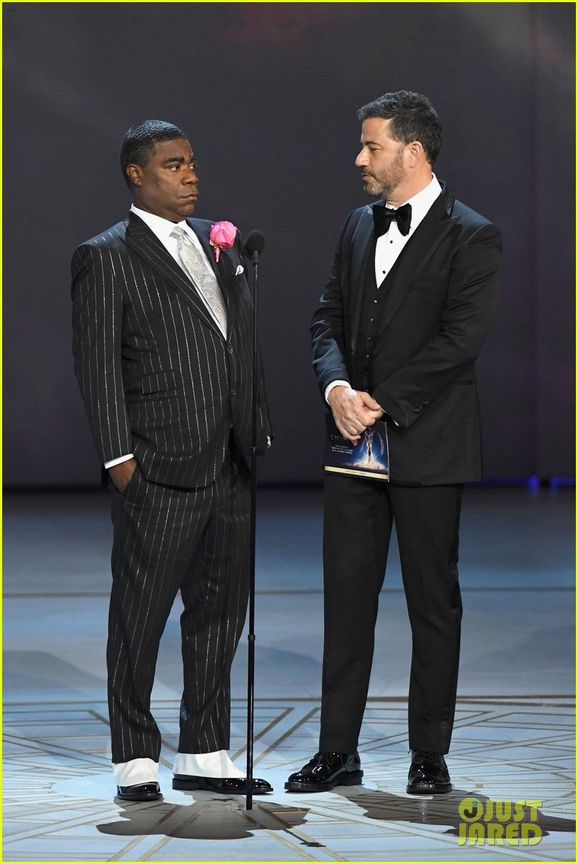 jimmy kimmel and james corden present at the emmys 2018 124148991