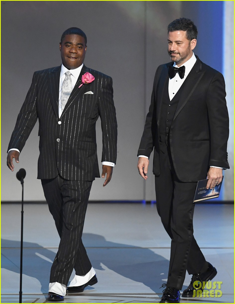 jimmy kimmel and james corden present at the emmys 2018 134148992